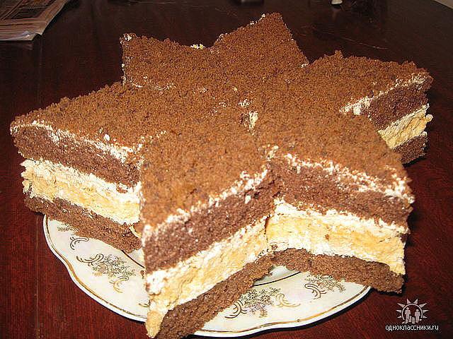 рецепт торт бон-бон